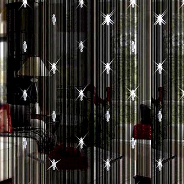 200cmX100cm Beads String Tassel Curtain Crystal Divider Decoration Door  Window Room