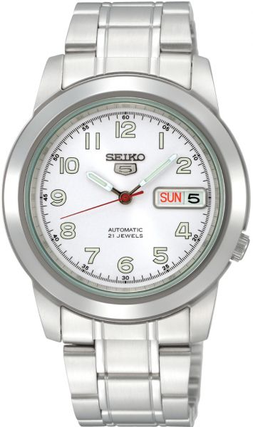 f031f880e8f0 Seiko 5 Men s Silver Dial Stainless Steel Band Automatic Watch - SNKK33K1.  by Seiko