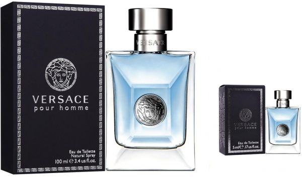 Versace Pour Homme 100ML   5ML EDT Gift Set for Men  59354e8f979