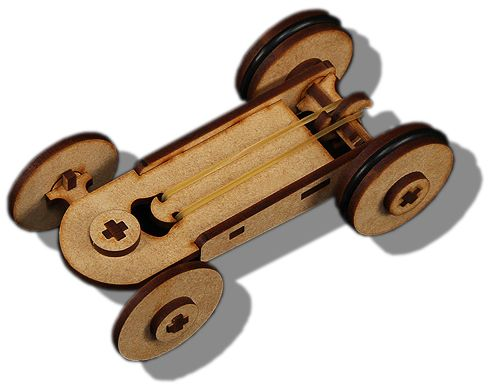 Rubber Band Wooden Car Laser Cut Review And Buy In Cairo