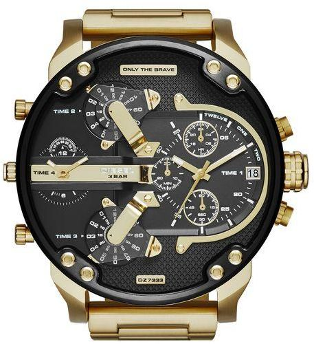 b467df35b0428 Diesel Mr. Daddy 2.0 Men s Black Dial Gold-Plated Stainless Steel Band Watch  - DZ7333