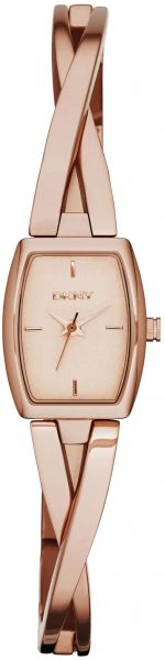 86c96e4e7 DKNY Crosswalk Women's Rose Gold Dial Stainless Steel Band Watch - NY2314
