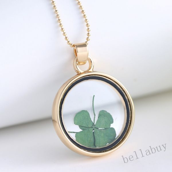 Buy round locket necklace pendants gold chain necklace for women round locket necklace pendants gold chain necklace for women glass clover dried flower necklace aloadofball Gallery