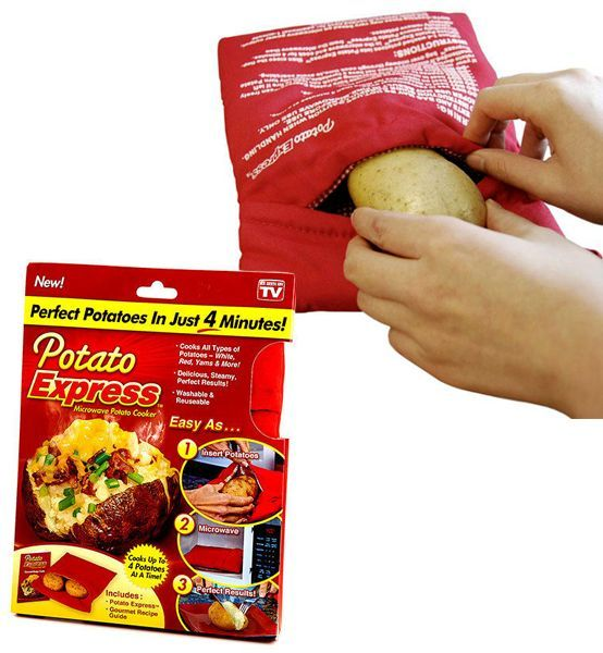 Potato Express Microwave Potato Cooker ‫(2 pieces)