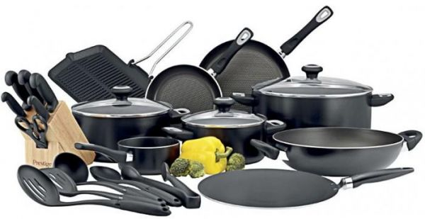 Prestige Aluminum Classique Pro Cookware Set Of 24 Piece