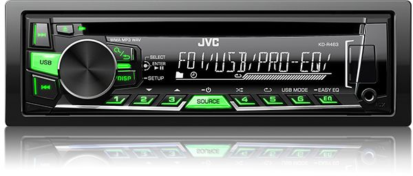 JVC Car Audio Stereo CD/USB/MP3 Player KD-R463
