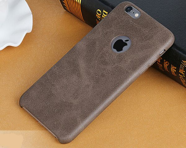 promo code 86337 a24d2 Iphone6s plus 5.5 leather case slim back cover men business stylish shell  ultrathin sleeve T78 brown