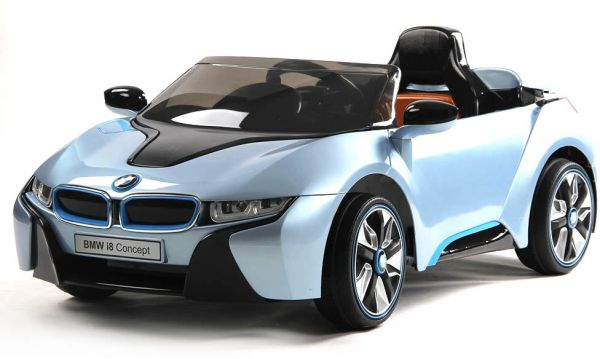 Bmw I8 Concept Licensed Ride On Car With Rc Water Blue Toys