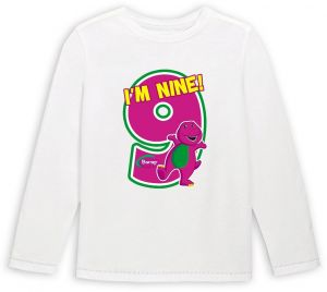 Barney With IM Nine Boys Birthday Long Sleeved T Shirt