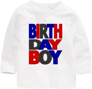 Birthday Boy Long Sleeve T Shirt 5 Years