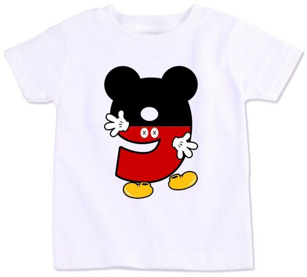 Mickey Mouse Number 9 Birthday T Shirt