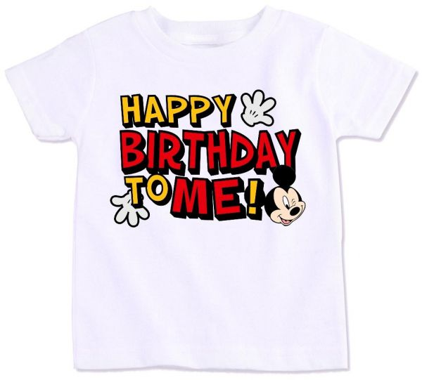 Mickey Mouse With Happy Birthday To Me T Shirt 4 Years