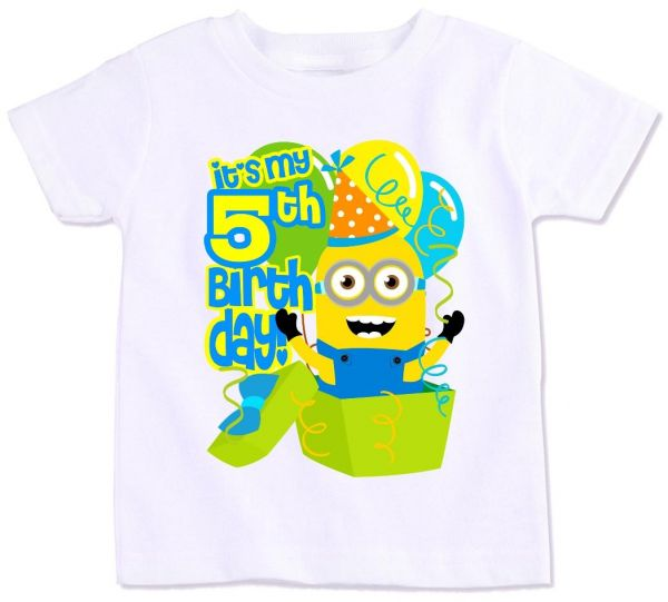 Minions With Its My 5Th Birthday T Shirt