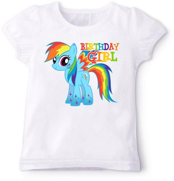 My Little Pony Rainbow Dash With Birthday Girl T Shirt 5 Years