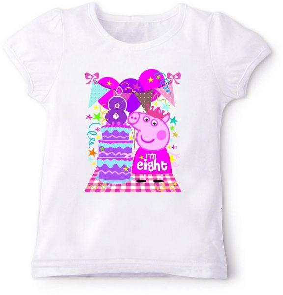 Peppa Pig With IM Eight Birthday T Shirt