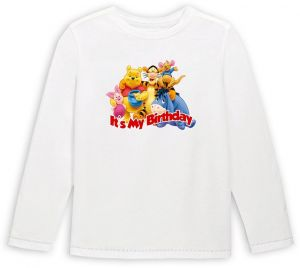 Pooh And Friends Its My Birthday Long Sleeve T Shirt 6 To 7 Years