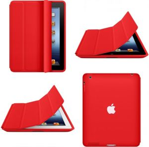 Smart Case  Flip Cover for Apple iPad 2,3,4 - Red