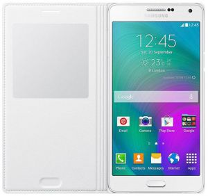Flip S-View Cover For Samsung Galaxy A7 - White