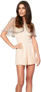 f74f940995 Lace and Beads ANQ 00150 Jodie Playsuit for Women - S