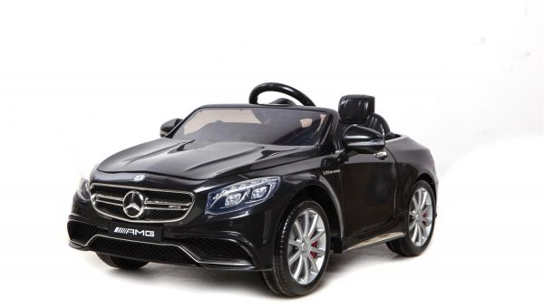 Mercedes S63 Amg Kids Ride On Car With 12v Twin Motors 2 Forward Sds Mp3 Input Black Souq Uae