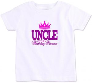 Uncle Of The Birthday Princess Family Matching T Shirt Small