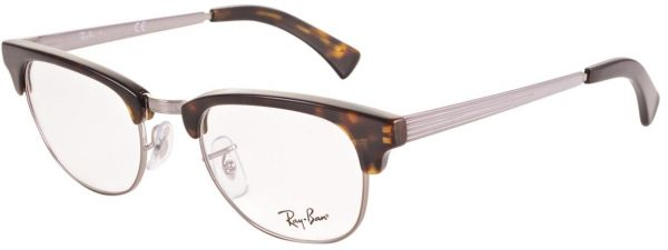 0505a938f2 Ray Ban Clubmaster Semi Rimless Frames for Unisex - Multi Color ...