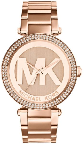 93d852e496c Michael Kors Parker Watch for Women - Analog Stainless Steel Band ...