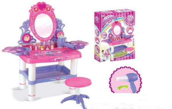 outlet store 129da fe28b Beauty Dresser Vanity Makeup Play Set Girls dressing table with mirror and  music