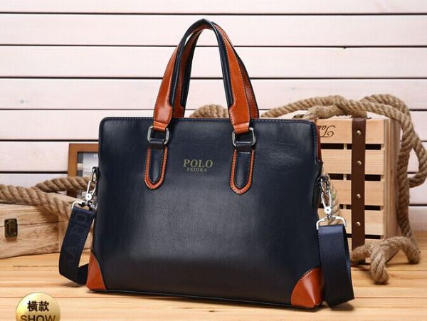 Busness Style High Grade Genuine Leather Handbag Messenger Bag Shoulder bag  for Men Blue BY-42A 401c0e6c2736d