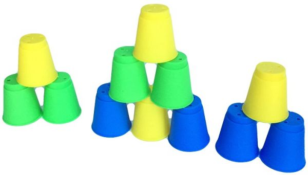 kids educational toys mini speed stacks magic folding cup stacking