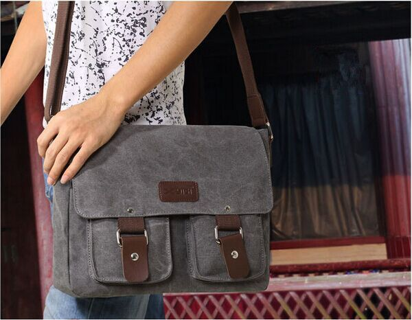 380cf2484d Korean version Casual High-quality men Canvas Shoulder bag Messenger ...