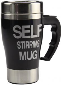 350ml Stainless Steel Lazy Self Stirring Auto Mixing Mug Office Home T...