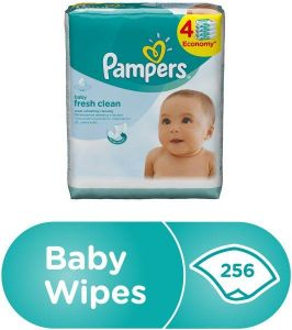 Pampers Baby Fresh Clean Wipes, 256 Count