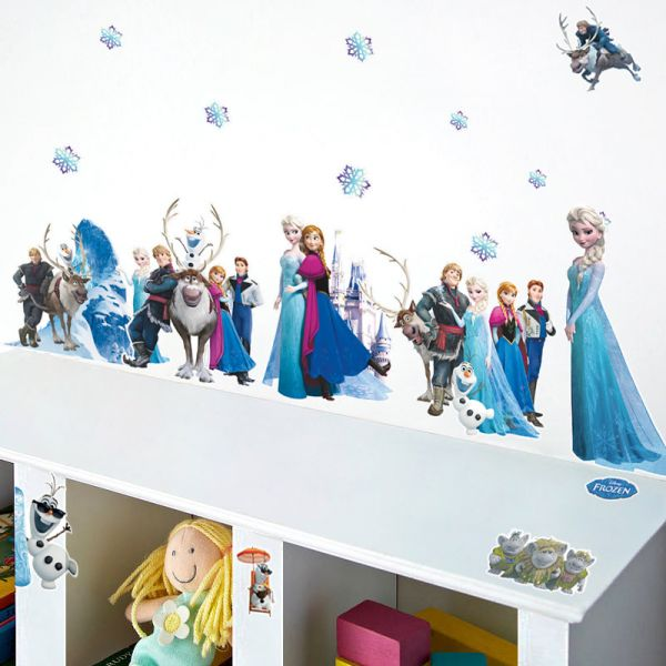 Frozen Wall Stickers Home Decor Wall Stickers Removable 3d Wall Decals Art  Of Frozen Kids Room