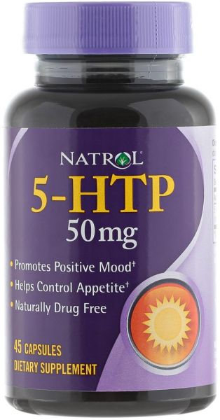 Natrol 5-htp 45 Caps Box, 50 Mg