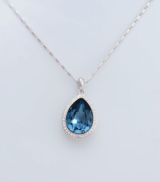 Swarovski Elements 18K White Gold Plated Necklace Encrusted with ... f269cf99f