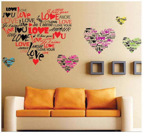 i love you language personlised wall art stickers vinyl decal room