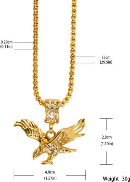 gold dp map amazon length pendant made necklace com passage african plated of chain usa real