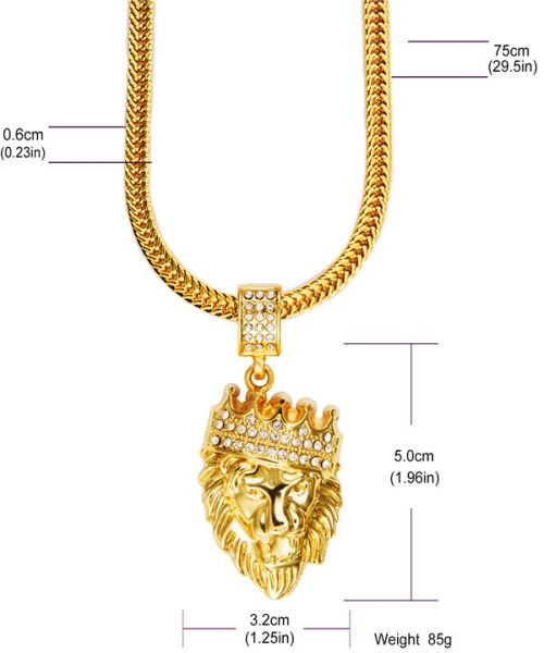 Real 18k gold plated chain men hip hop hiphop lion king crown real 18k gold plated chain men hip hop hiphop lion king crown necklaces aloadofball