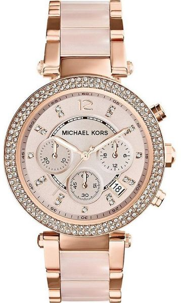 reputable site preview of large discount Michael Kors MK5896 Parker For Women Analog Stainless Steel Band Watch