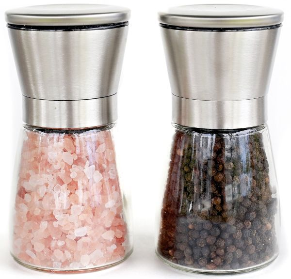 Stainless Steel Salt and Pepper Grinder Mill Set Salt and Pepper Shakers