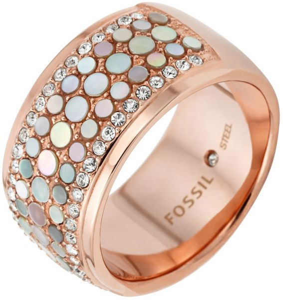 Fossil Women's Rose Gold Ring JF01742791