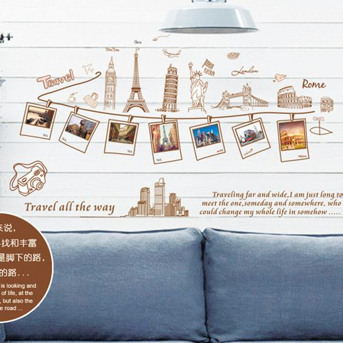 Removable large wallpaper world map wall sticker home decoration removable large wallpaper world map wall sticker home decoration travel photo frame wall decals gumiabroncs Choice Image