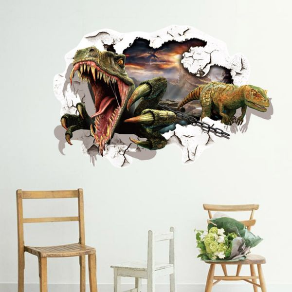 3d Dinosaur Wall Stickers Decals For Kids Rooms Art For Nursery Room  Decoration Kids Cartoon Poster