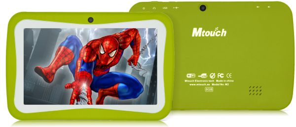 Mtouch M2 Plus Kids Tablet - 7 Inch, 8GB, 512MB RAM, Green