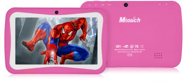 Mtouch M2 Plus Kids Tablet - 7 Inch, 8GB, 512MB RAM, Pink