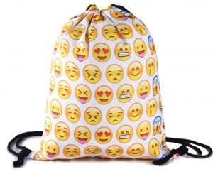 a0fd1a0d6f Unisex Canvas emoji Soft Backpack with white Emoji Print