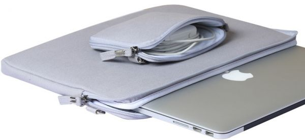 buy online 9722b 22431 15‑inch MacBook Pro Sleeve Carry Case Cover Soft Bag Pouch For Apple  MacBook Pro 15 inch Gray