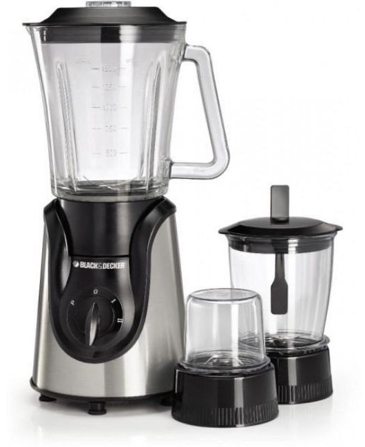 Black and Decker Blender with Grinder and Mincer Chopper, 600 W - BX600G-B5