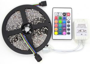 Non-waterproof Flexible RGB Multicolored LED Light Strip Model 3528 Wi...
